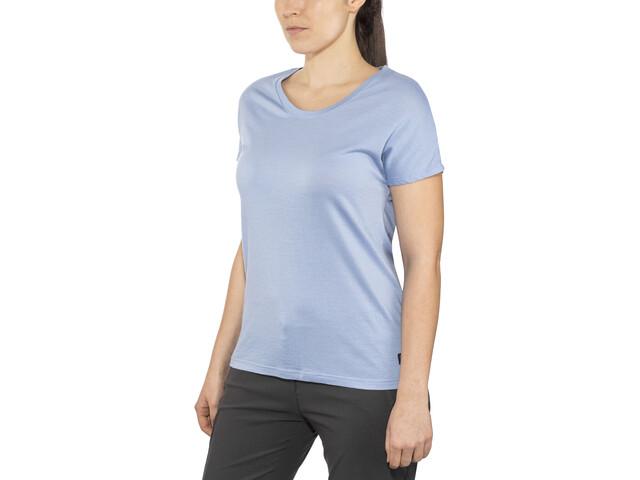 Bergans Oslo Wool - Camiseta manga corta Mujer - azul